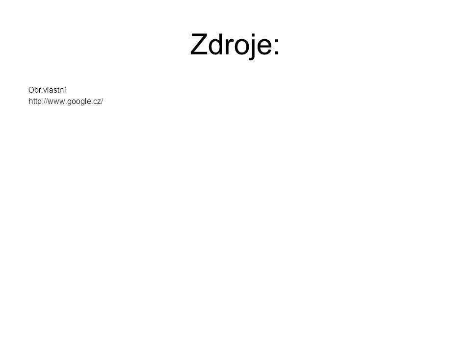 Zdroje: Obr.vlastní http://www.google.cz/