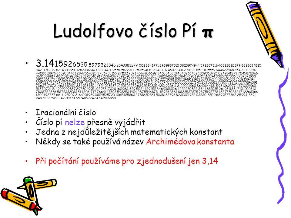 Ludolfovo číslo Pí π