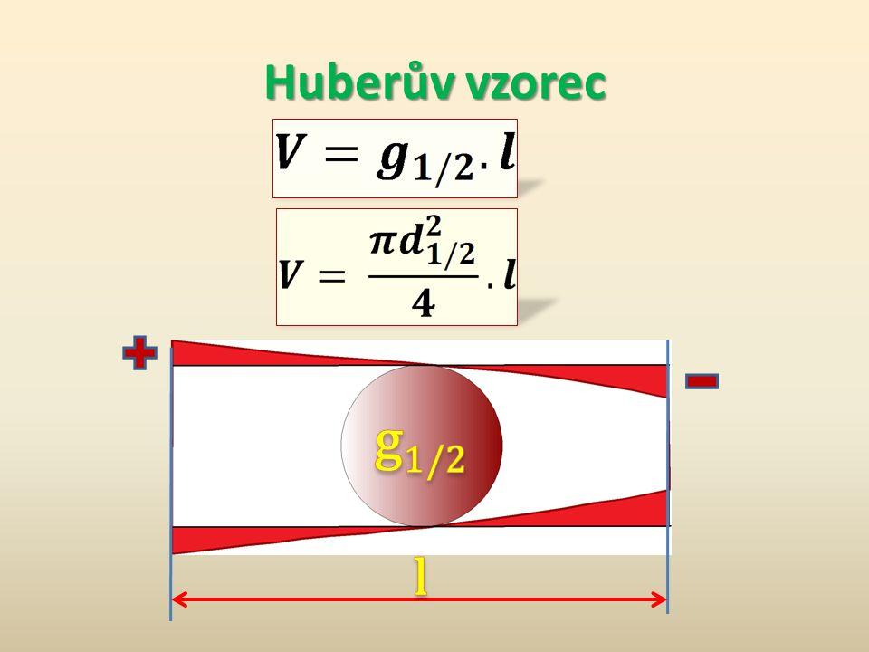 Huberův vzorec g1/2 l