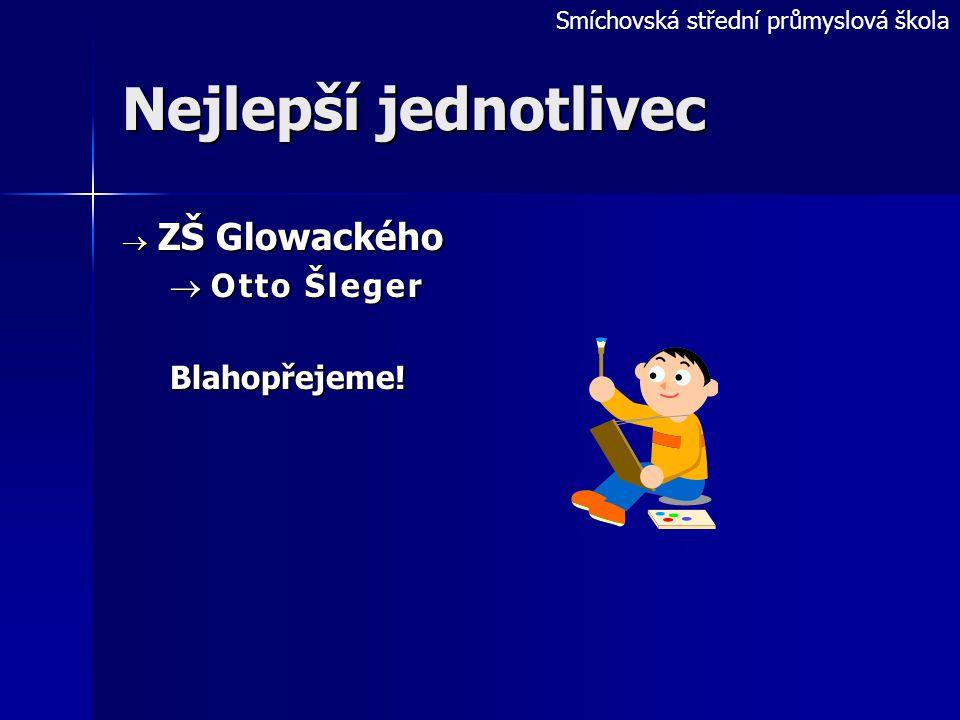 Nejlepší jednotlivec ZŠ Glowackého Otto Šleger Blahopřejeme!