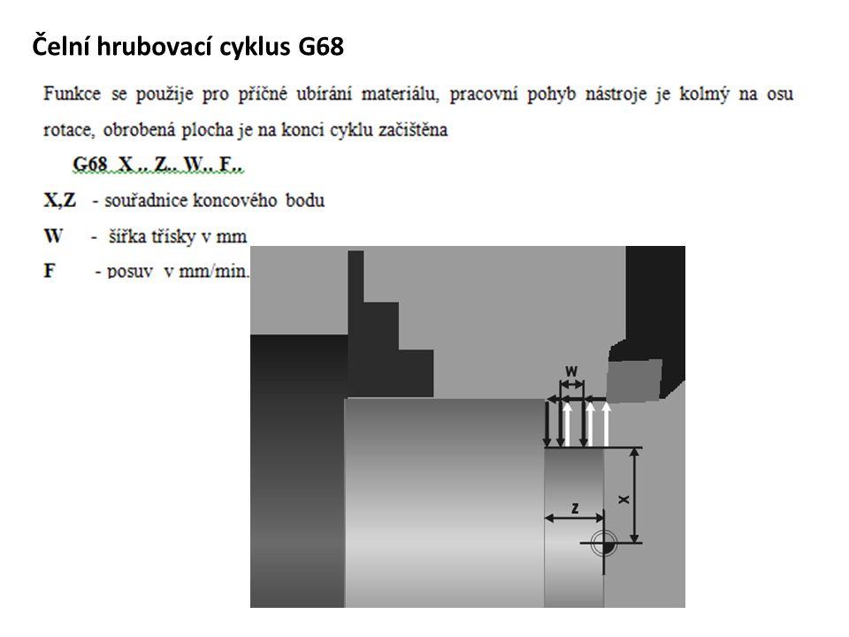 Čelní hrubovací cyklus G68