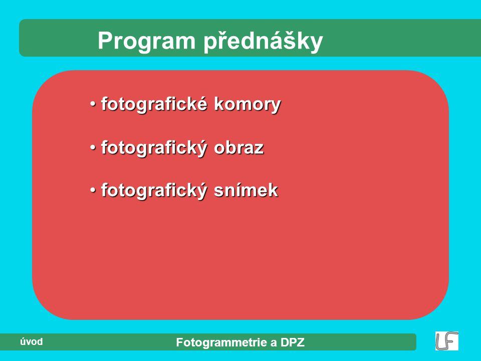 Program přednášky fotografické komory fotografický obraz
