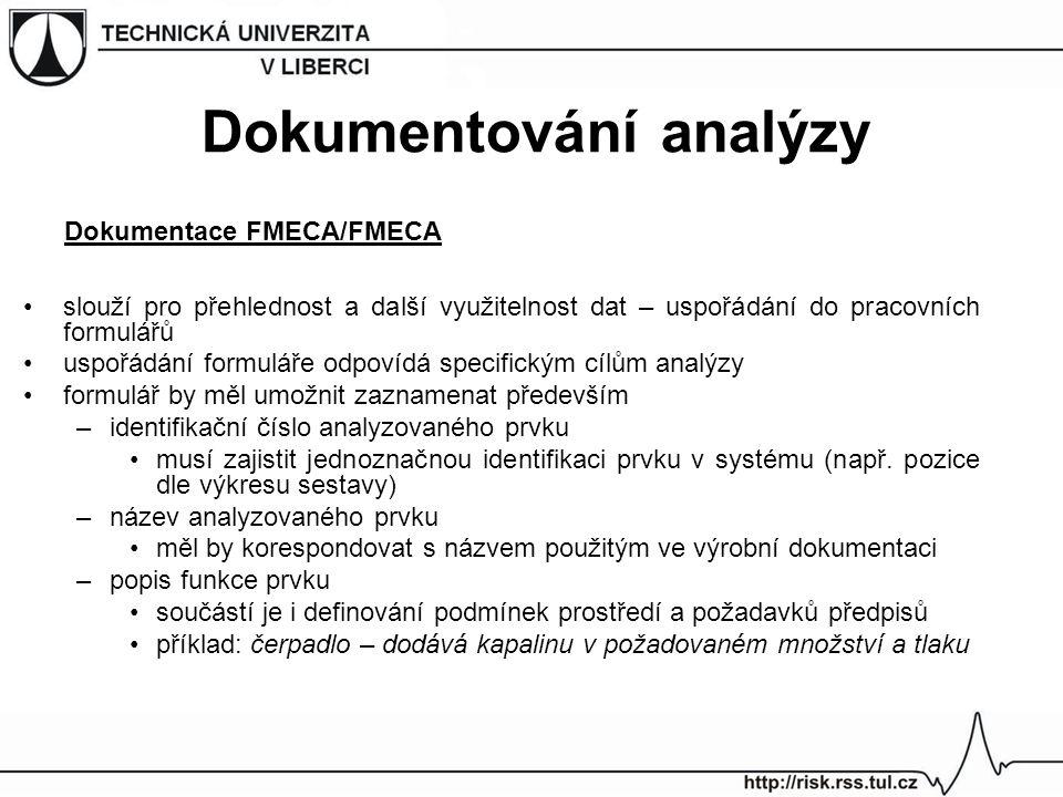 Dokumentace FMECA/FMECA