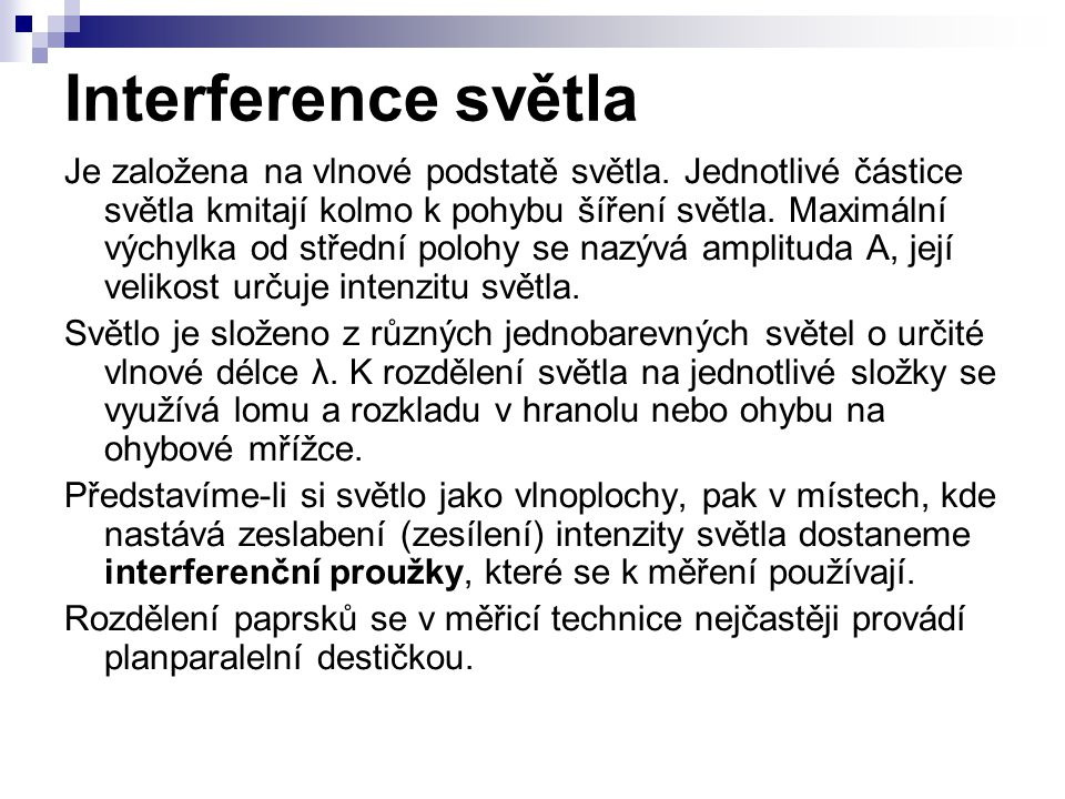 Interference světla
