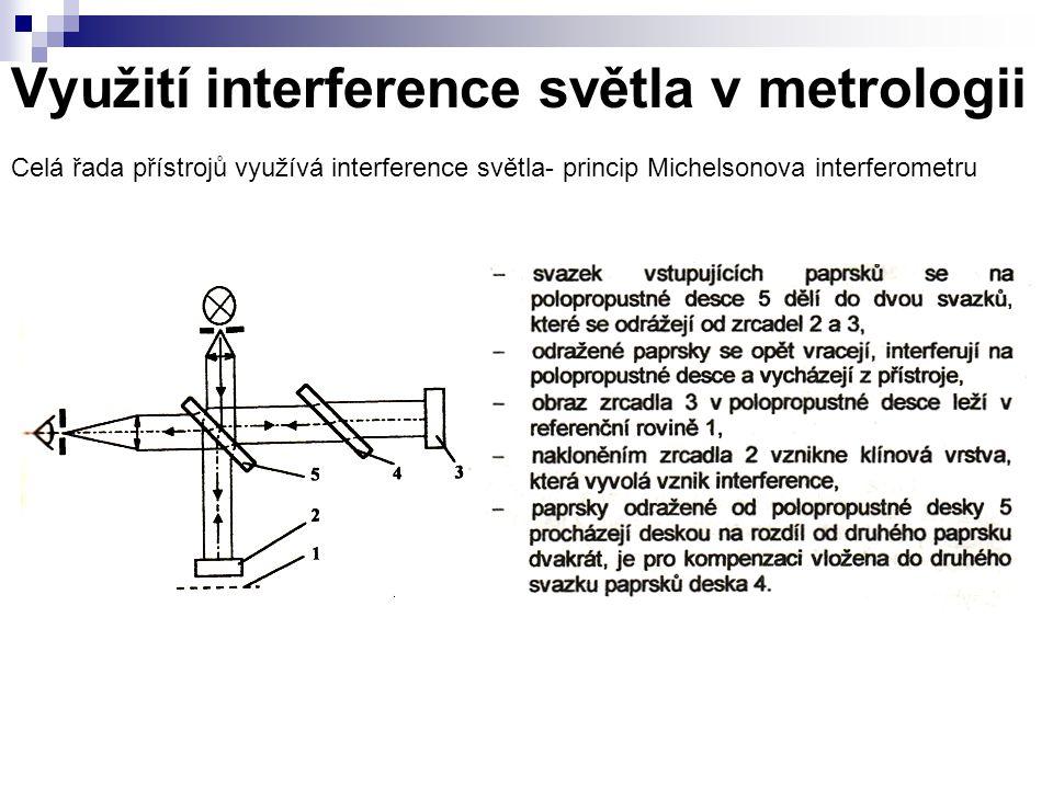 Využití interference světla v metrologii