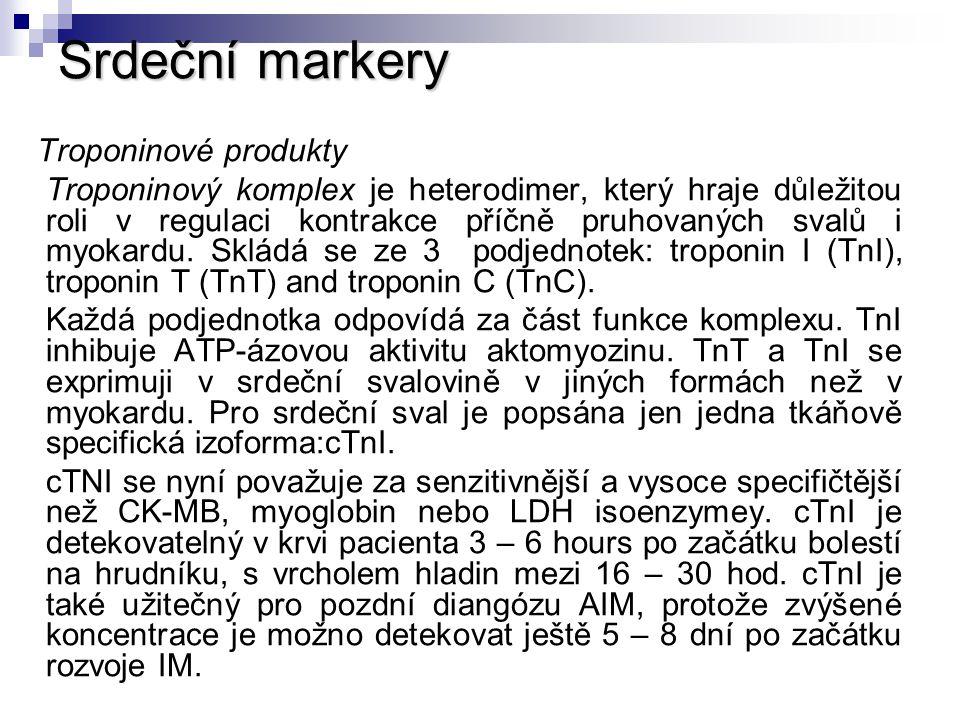Srdeční markery Troponinové produkty.