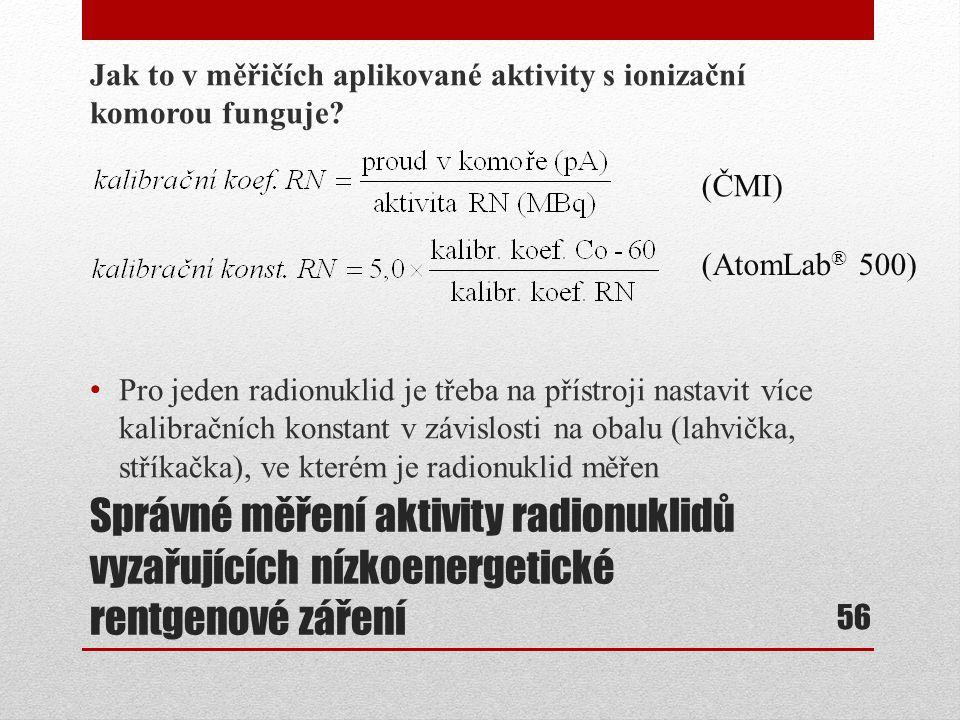 Jak to v měřičích aplikované aktivity s ionizační komorou funguje
