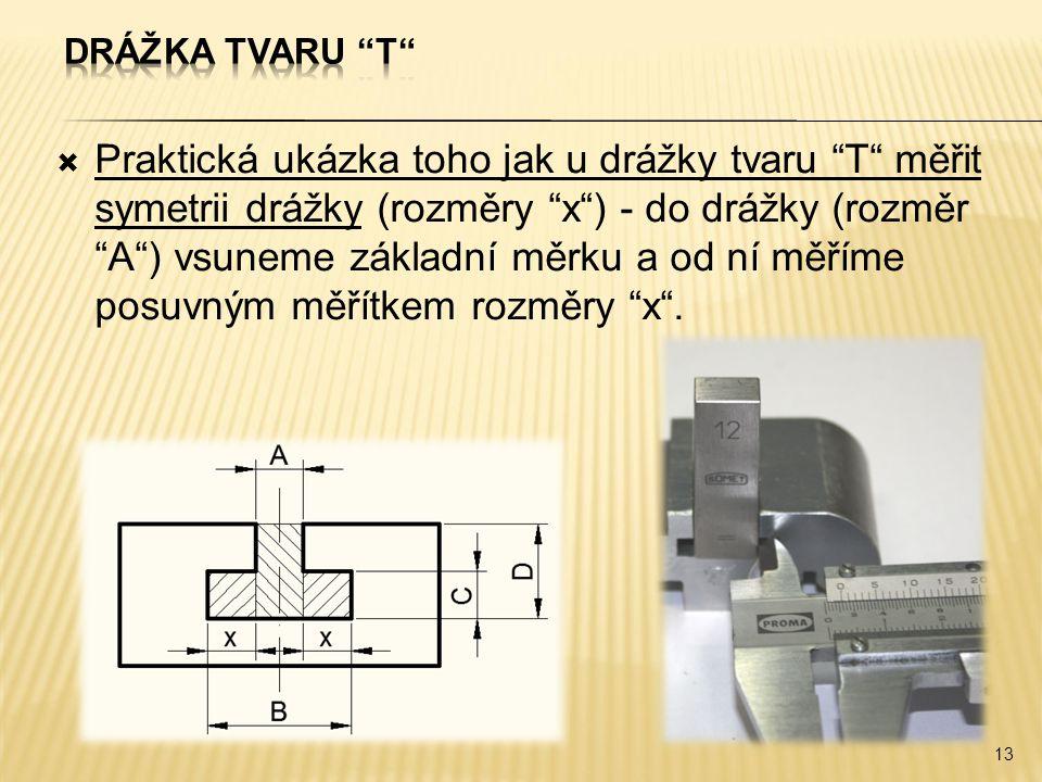 Drážka tvaru T