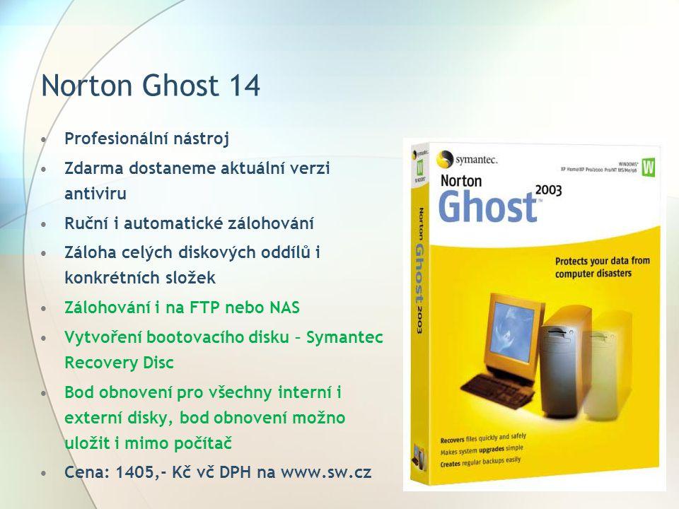 Norton Ghost 14 Profesionální nástroj