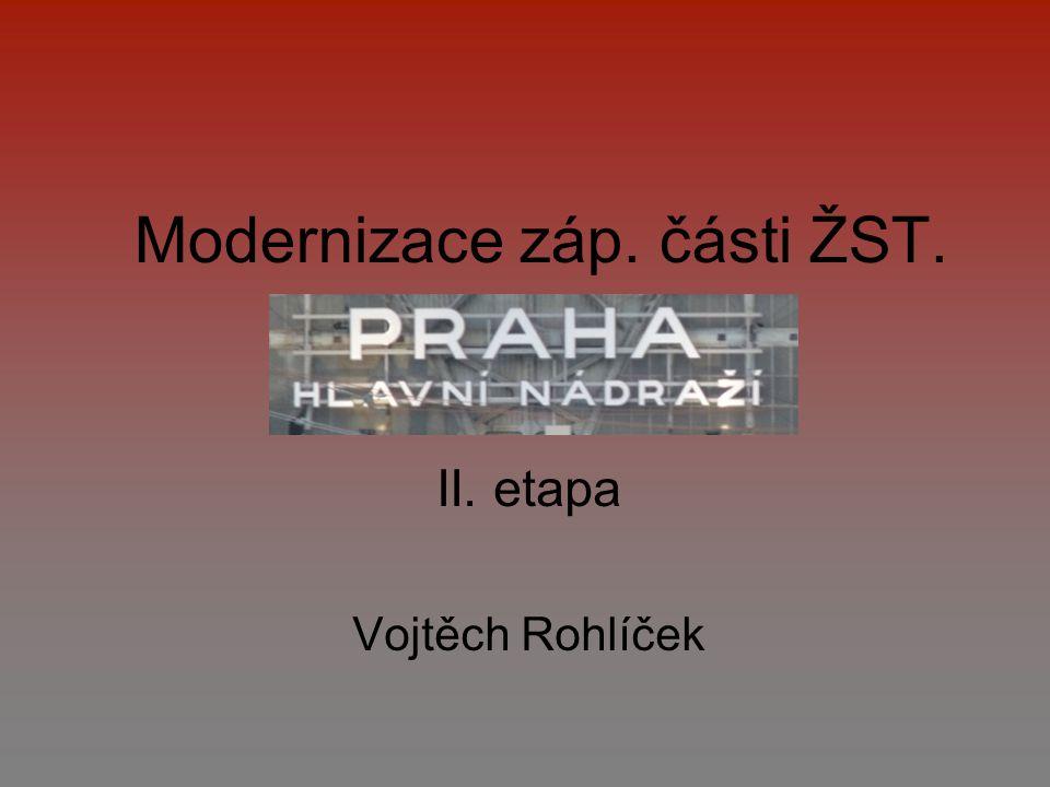 Modernizace záp. části ŽST.