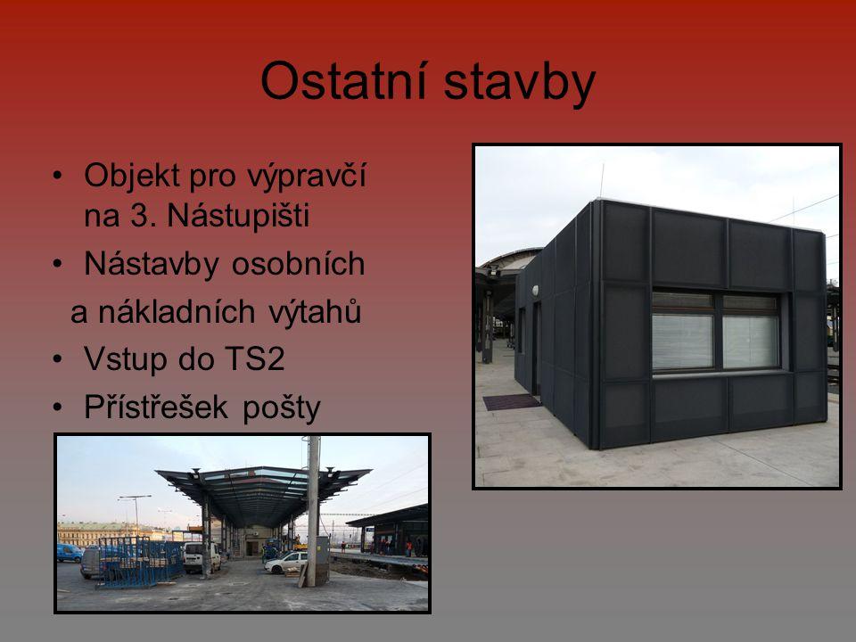 Ostatní stavby Objekt pro výpravčí na 3. Nástupišti Nástavby osobních