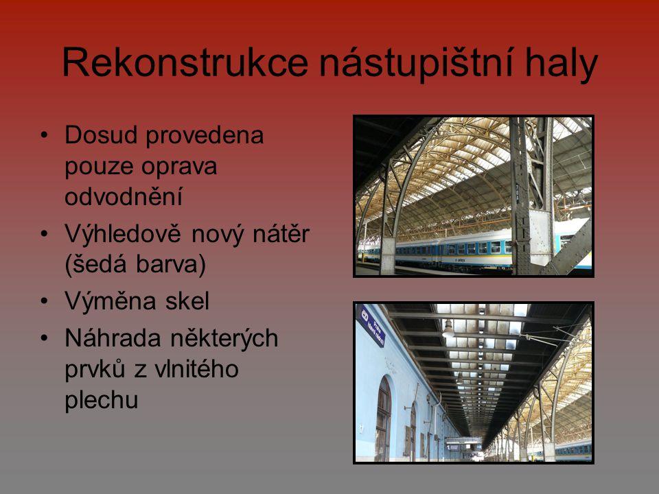 Rekonstrukce nástupištní haly
