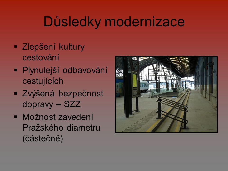 Důsledky modernizace Zlepšení kultury cestování