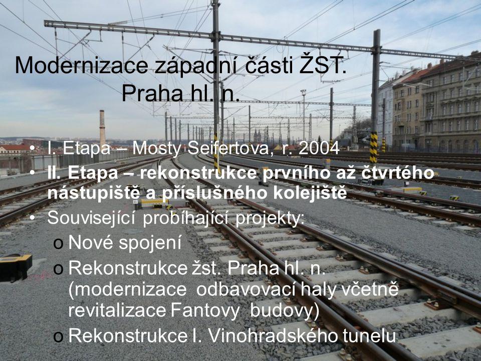 Modernizace západní části ŽST.