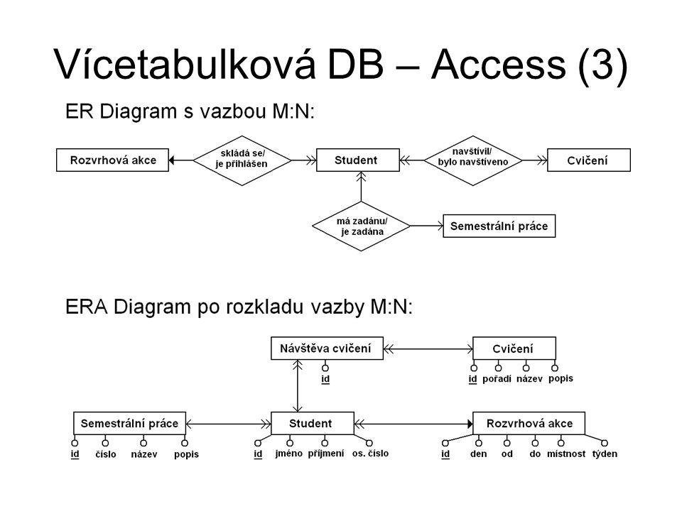 Vícetabulková DB – Access (3)