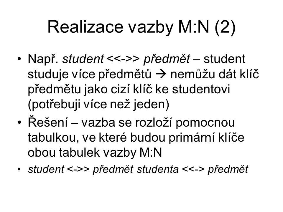 Realizace vazby M:N (2)