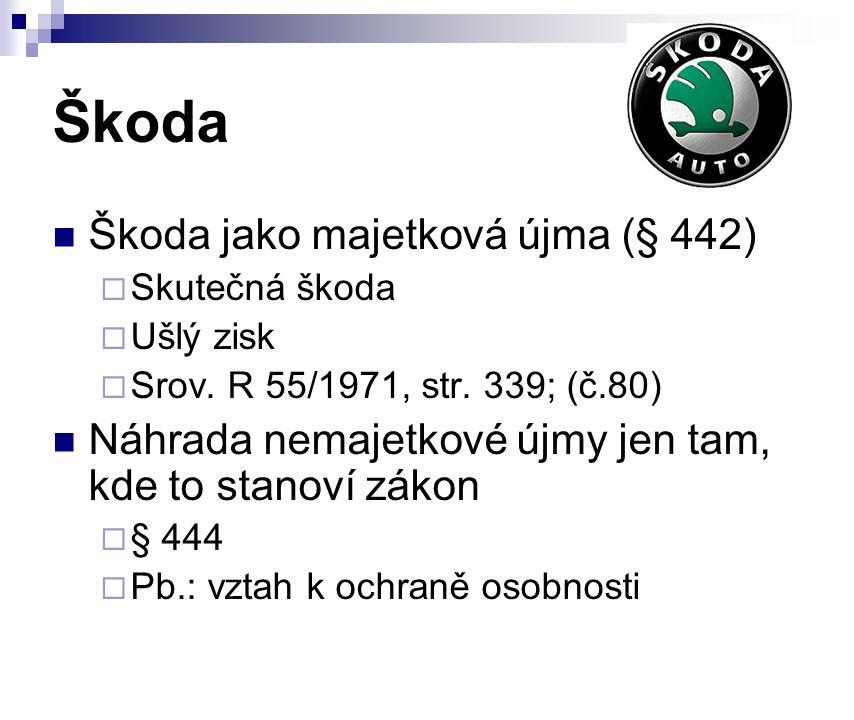 Škoda Škoda jako majetková újma (§ 442)