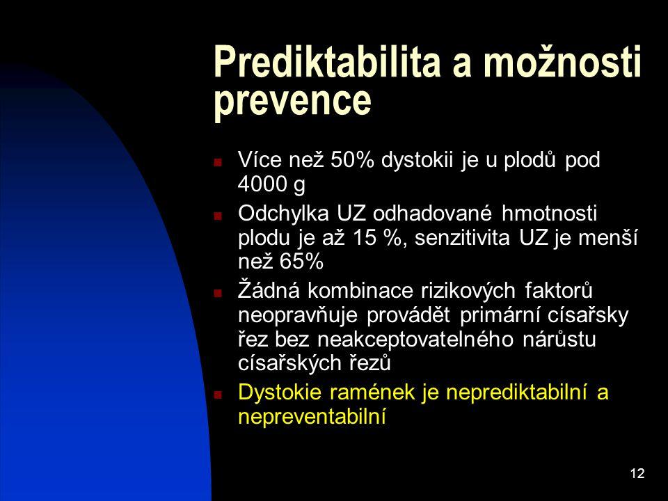 Prediktabilita a možnosti prevence