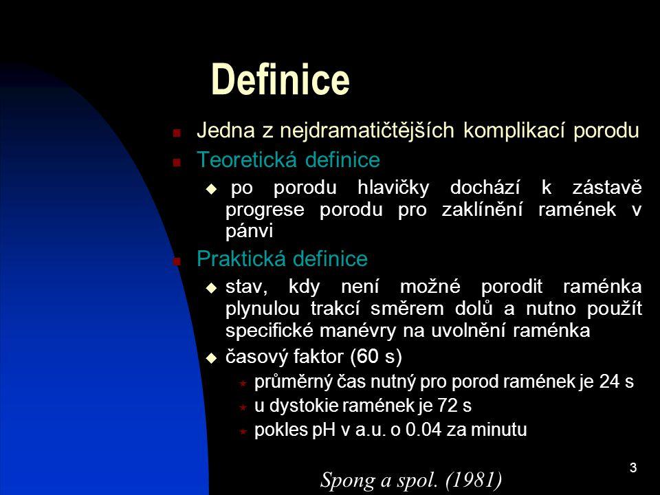 Definice Jedna z nejdramatičtějších komplikací porodu