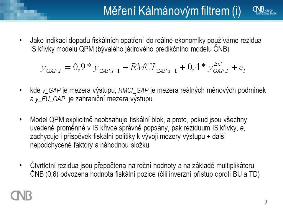 Měření Kálmánovým filtrem (i)
