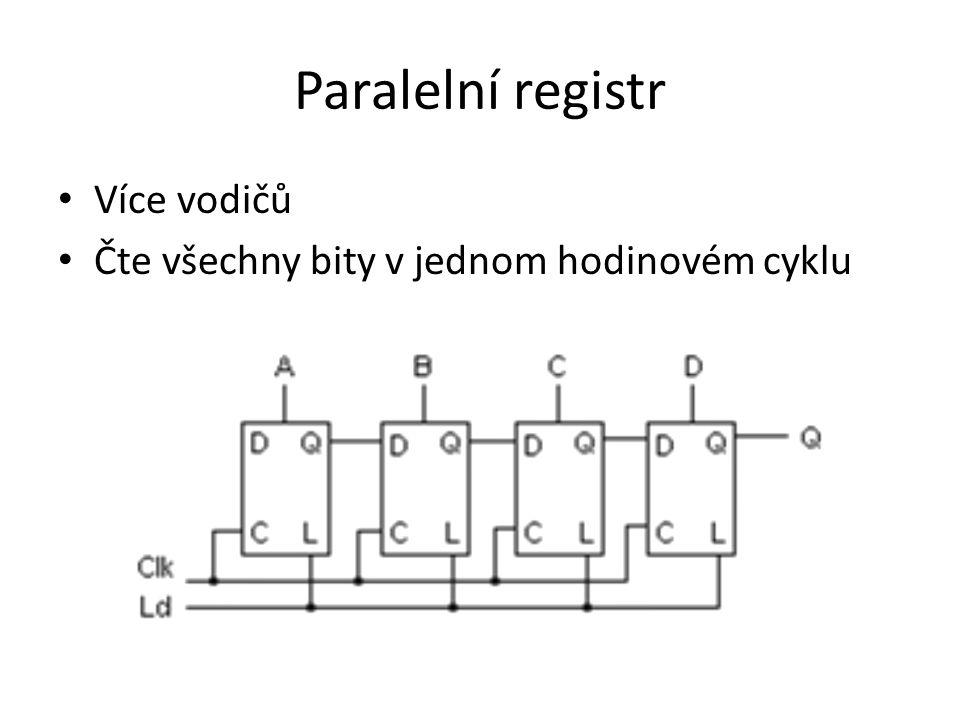 Paralelní registr Více vodičů