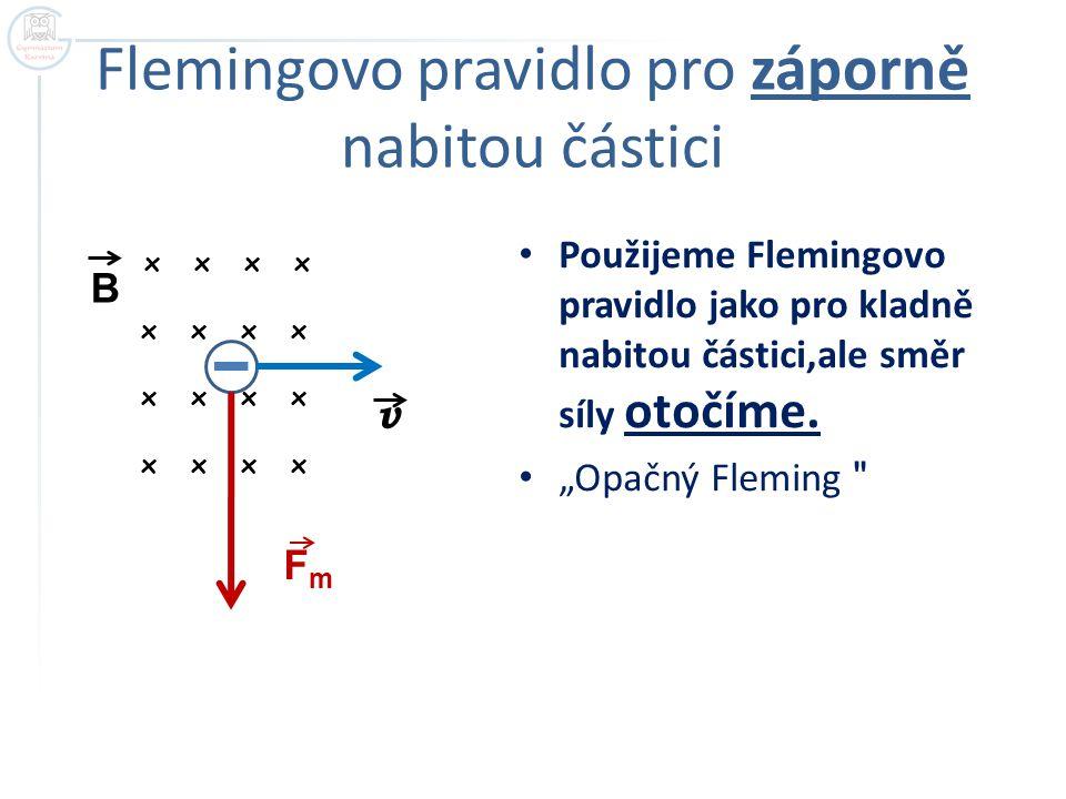 Flemingovo pravidlo pro záporně nabitou částici