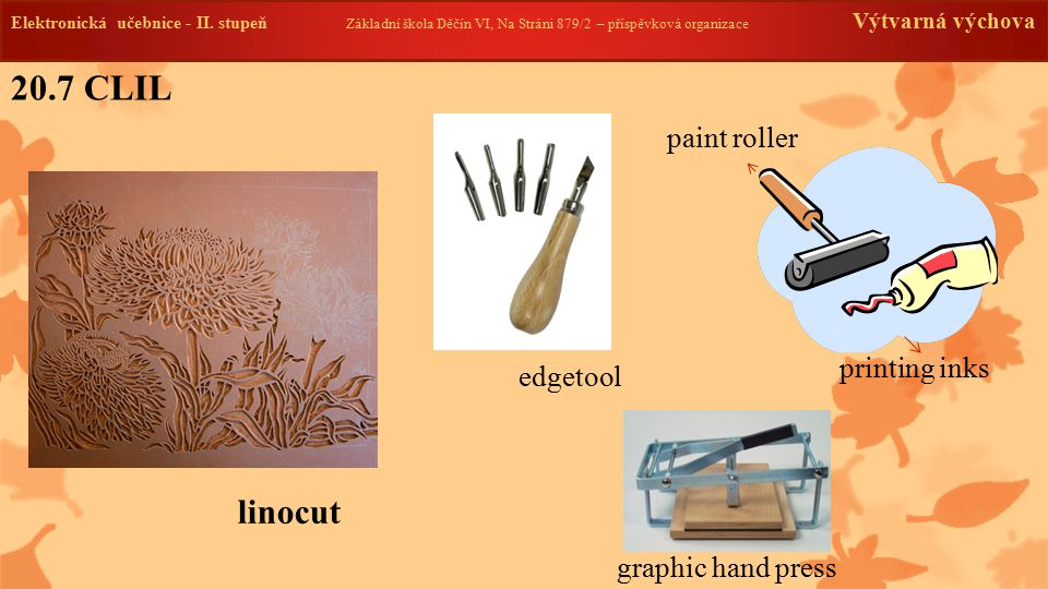 20.7 CLIL linocut paint roller printing inks edgetool