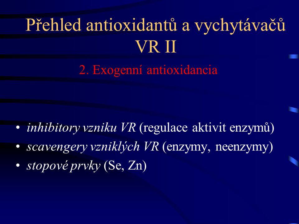 Přehled antioxidantů a vychytávačů VR II
