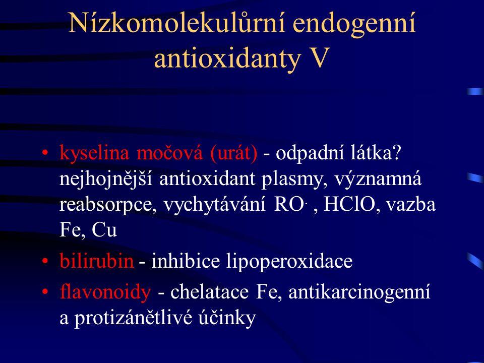Nízkomolekulůrní endogenní antioxidanty V