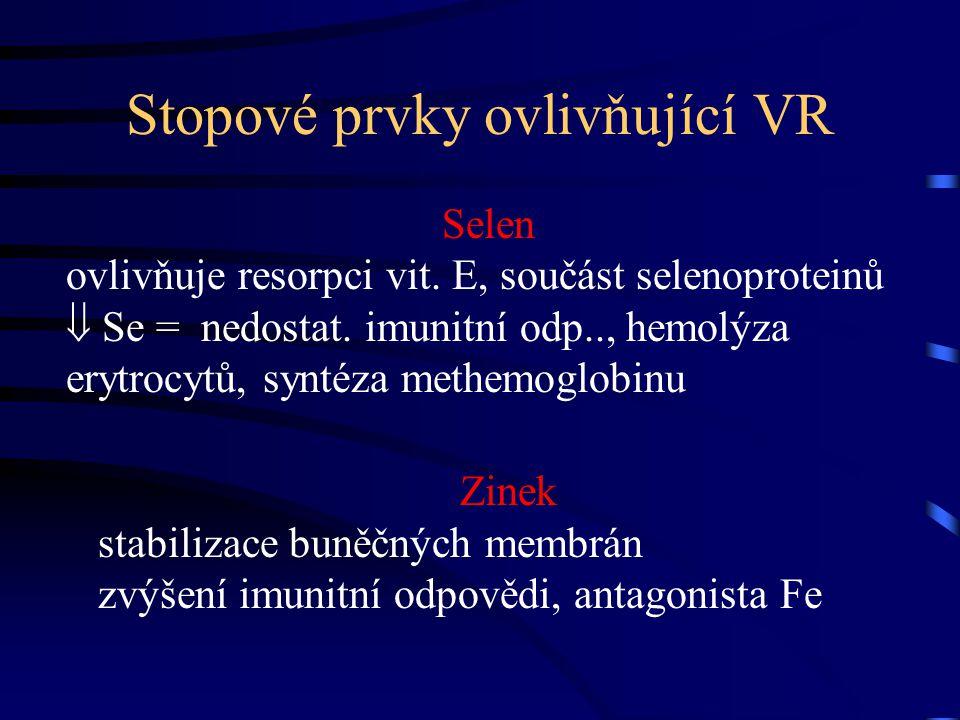 Stopové prvky ovlivňující VR