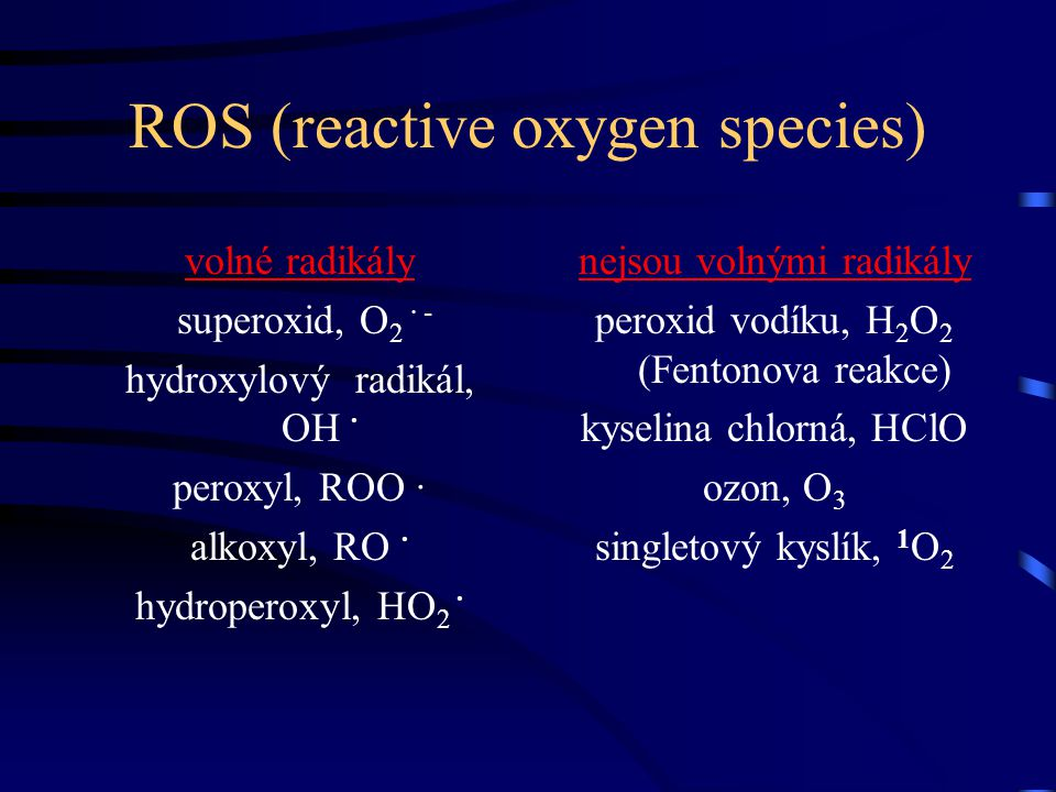 ROS (reactive oxygen species)