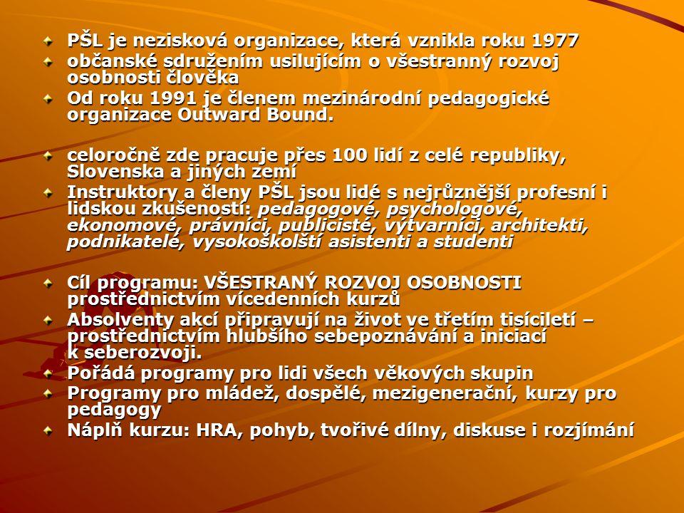 PŠL je nezisková organizace, která vznikla roku 1977
