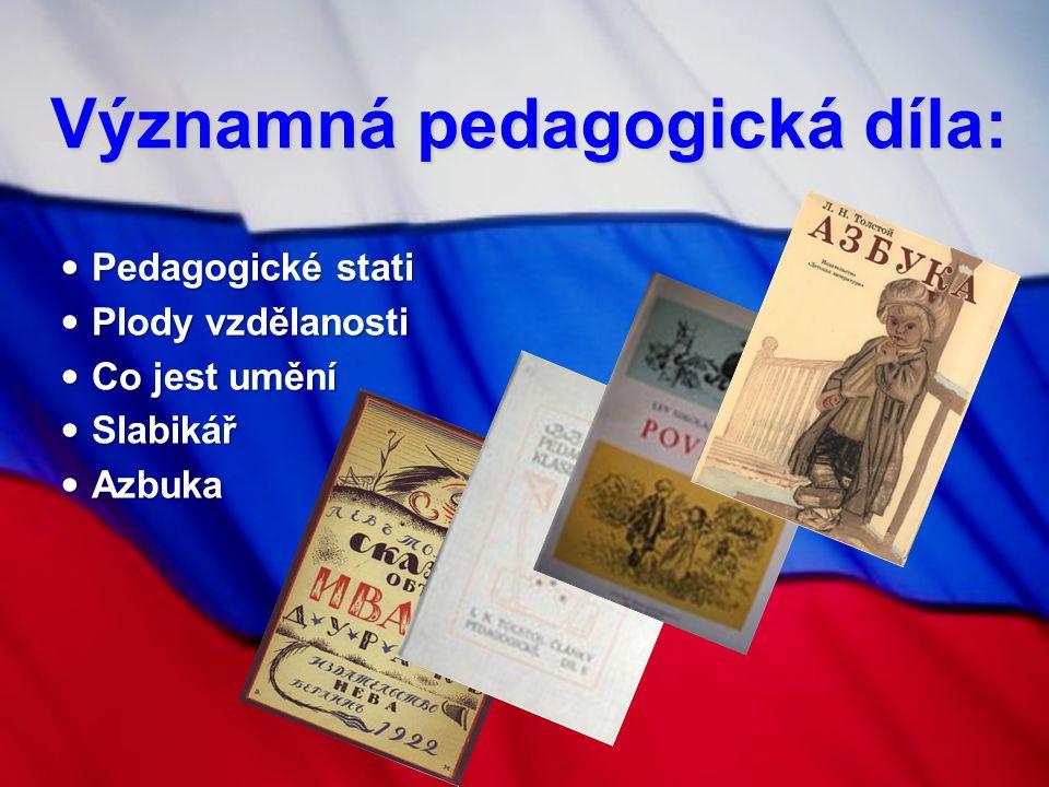 Významná pedagogická díla: