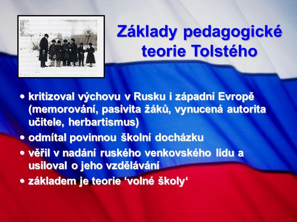 Základy pedagogické teorie Tolstého