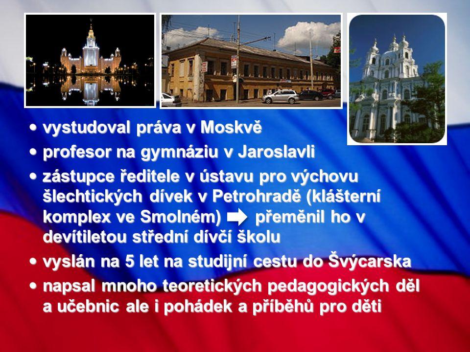 vystudoval práva v Moskvě profesor na gymnáziu v Jaroslavli