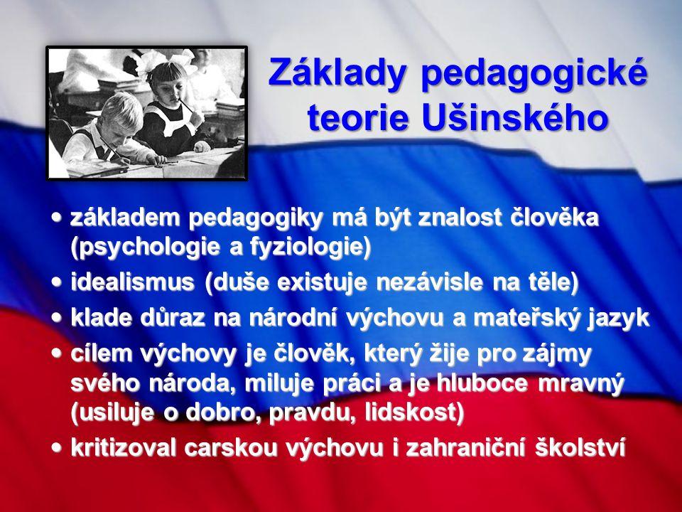 Základy pedagogické teorie Ušinského