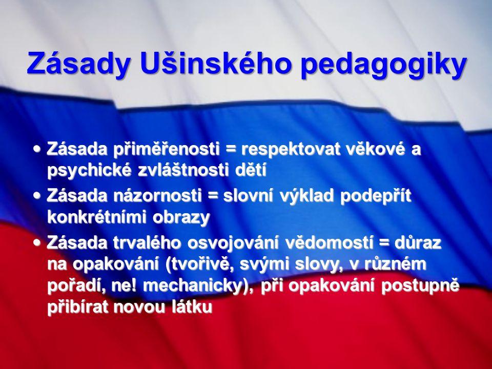 Zásady Ušinského pedagogiky