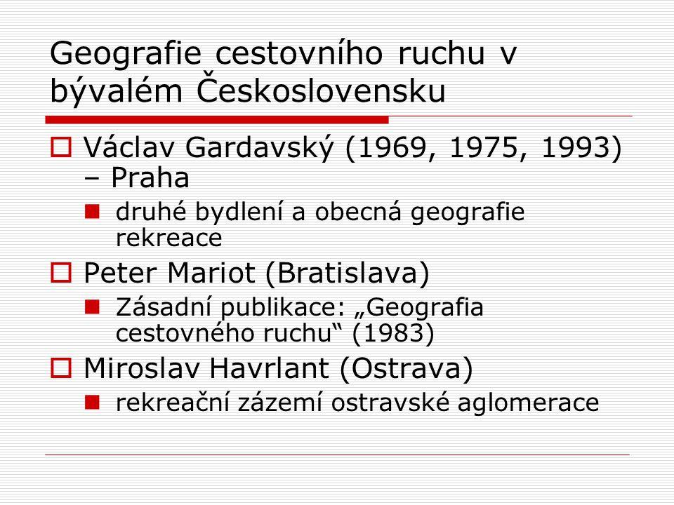 Geografie cestovního ruchu v bývalém Československu