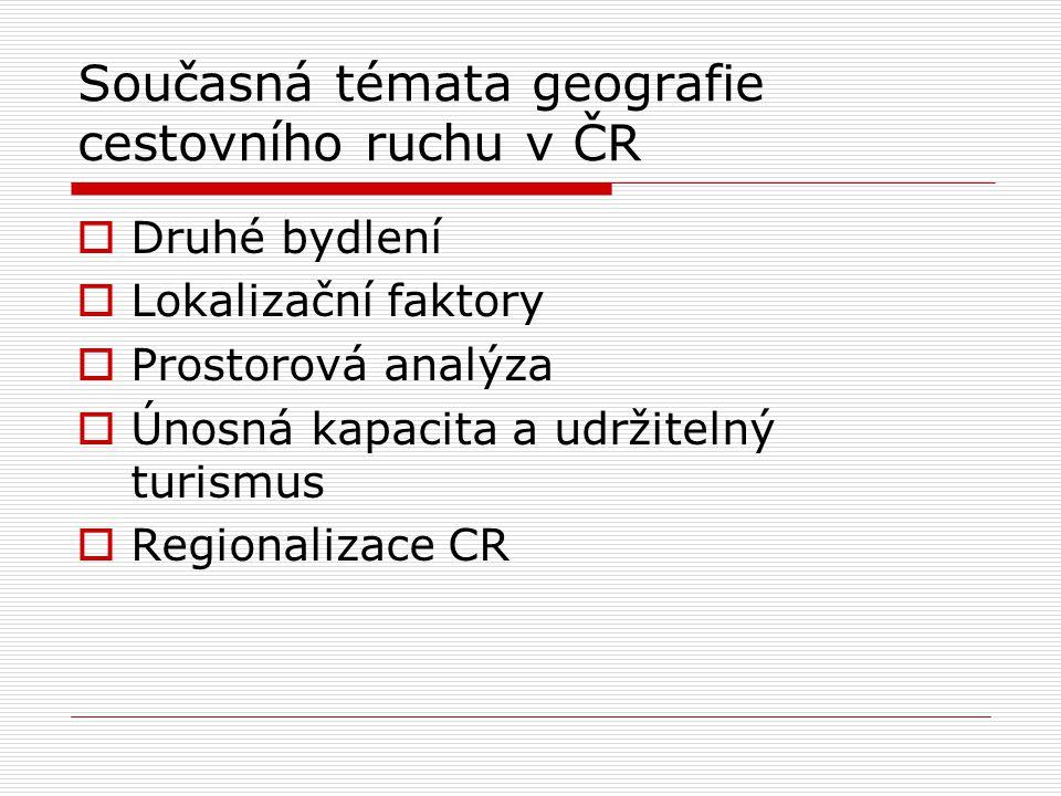 Současná témata geografie cestovního ruchu v ČR