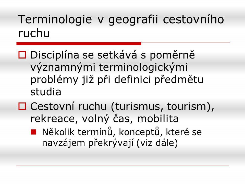 Terminologie v geografii cestovního ruchu