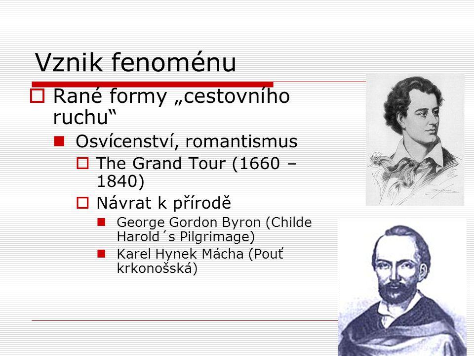 """Vznik fenoménu Rané formy """"cestovního ruchu Osvícenství, romantismus"""