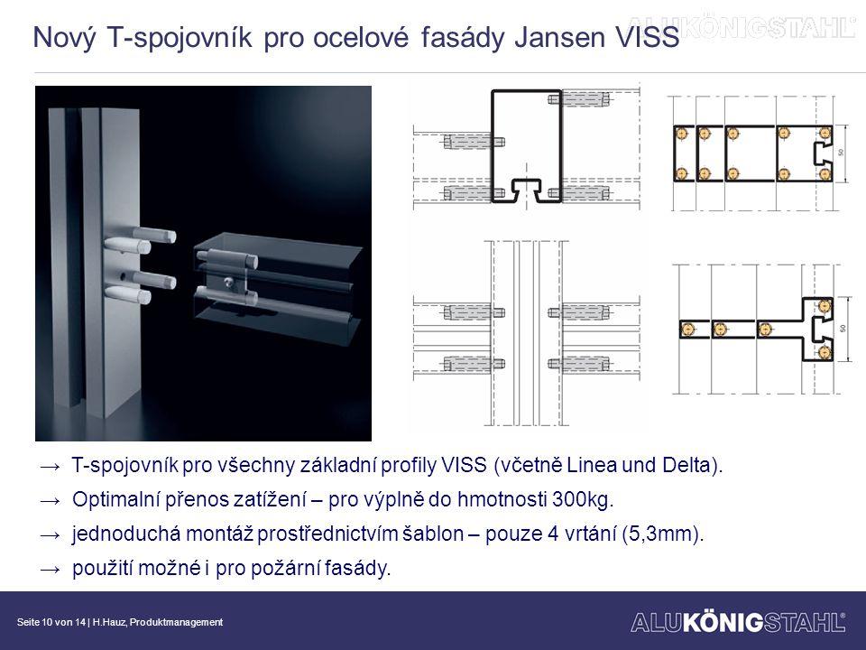 Nový T-spojovník pro ocelové fasády Jansen VISS
