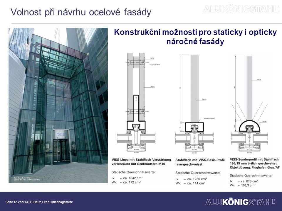Volnost při návrhu ocelové fasády