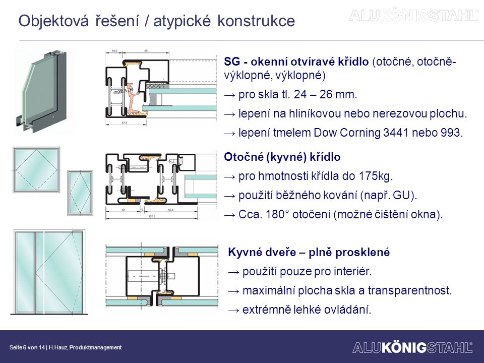 Objektová řešení / atypické konstrukce
