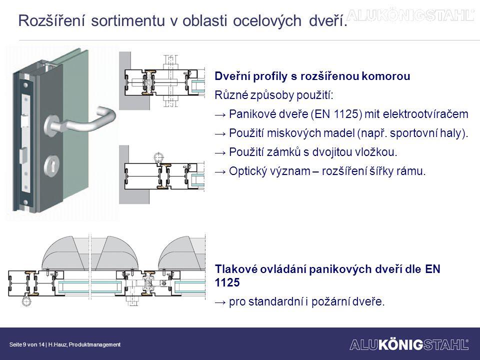 Rozšíření sortimentu v oblasti ocelových dveří.