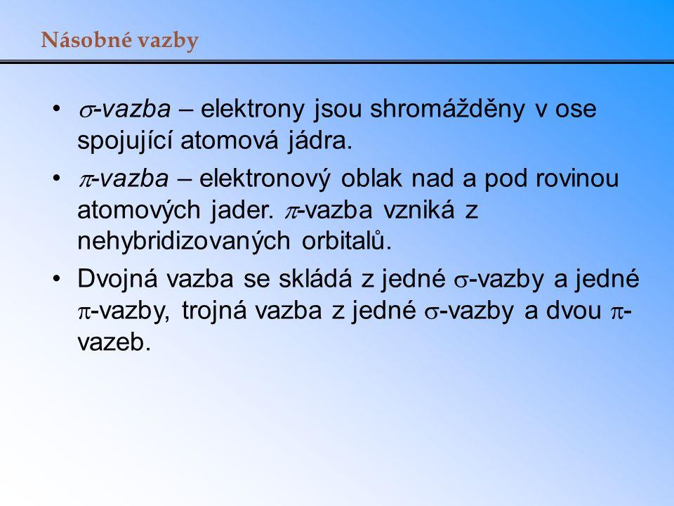 -vazba – elektrony jsou shromážděny v ose spojující atomová jádra.