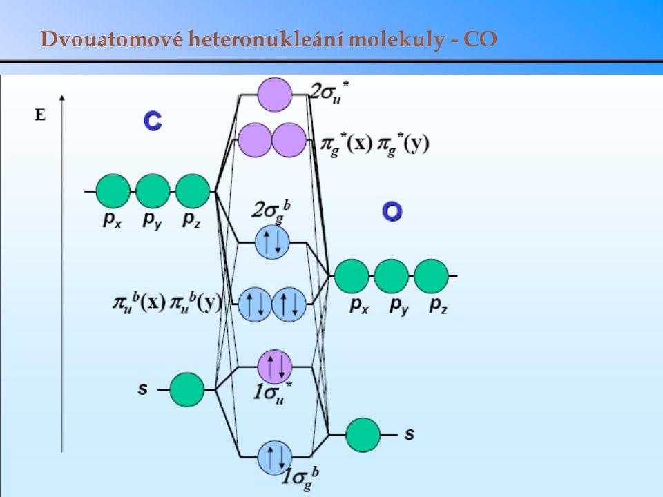Dvouatomové heteronukleání molekuly - CO
