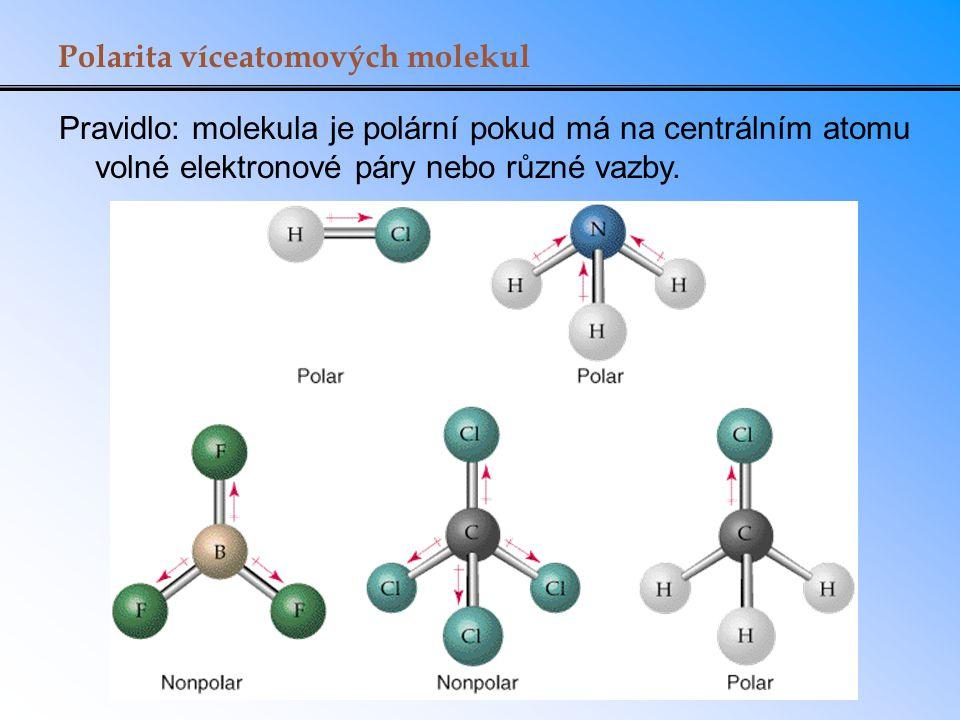 Polarita víceatomových molekul