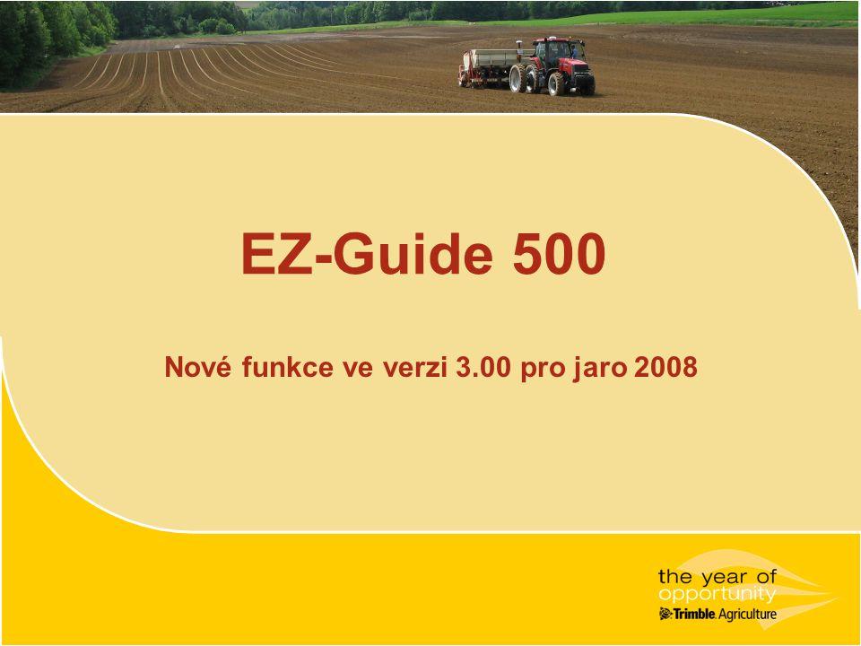Nové funkce ve verzi 3.00 pro jaro 2008