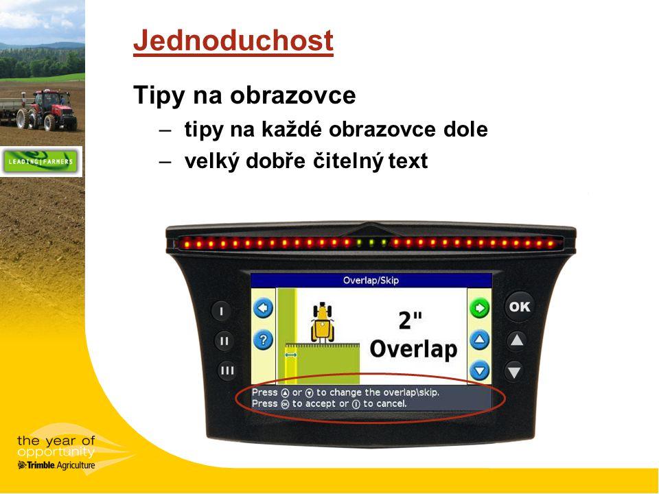 Jednoduchost Tipy na obrazovce tipy na každé obrazovce dole